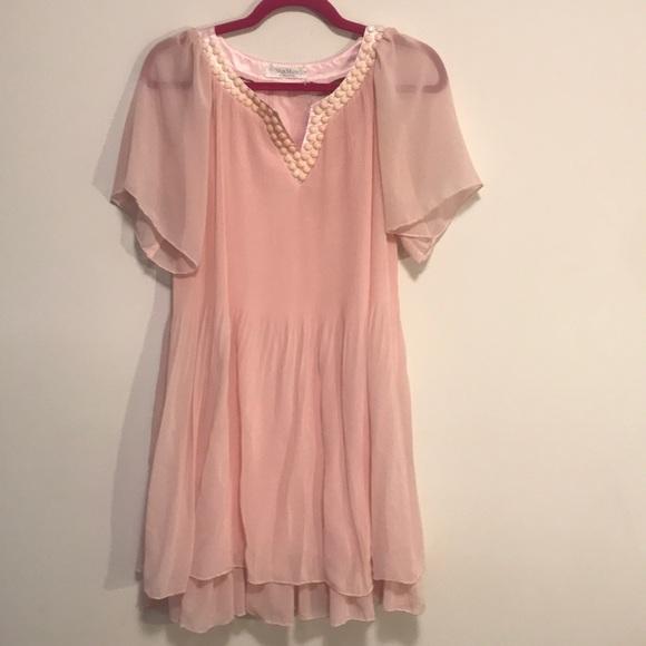 Max Mara silk pink dress size 6
